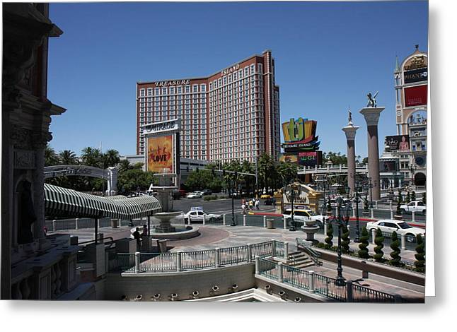 Game Greeting Cards - Las Vegas - Treasure Island - 12122 Greeting Card by DC Photographer