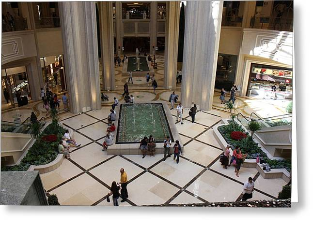Vegas Greeting Cards - Las Vegas - Venetian Casino - 121231 Greeting Card by DC Photographer