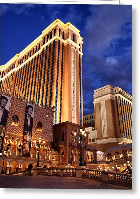 Craps Greeting Cards - Las Vegas - Venetian Hotel Greeting Card by Jon Berghoff