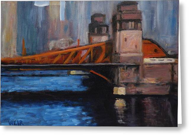 Suloway Greeting Cards - LaSalle Avenue Bridge Chicago Greeting Card by Chris Weir