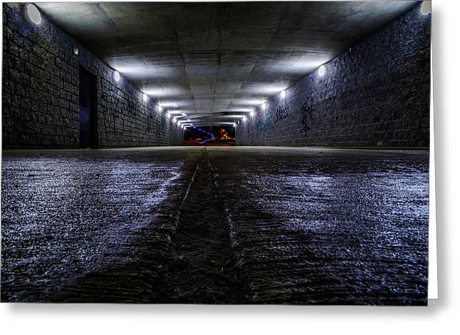 Lasalle Street Greeting Cards - LaSalle Drive Tunnel Greeting Card by Randy Scherkenbach