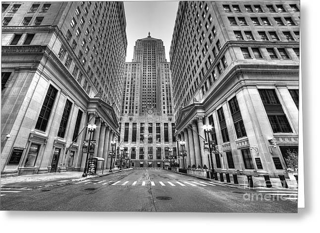 Lasalle Street Greeting Cards - LaSalle Street Greeting Card by Twenty Two North Photography