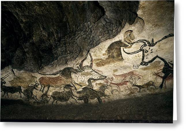 Lascaux II Cave Painting Replica Greeting Card by Science Photo Library