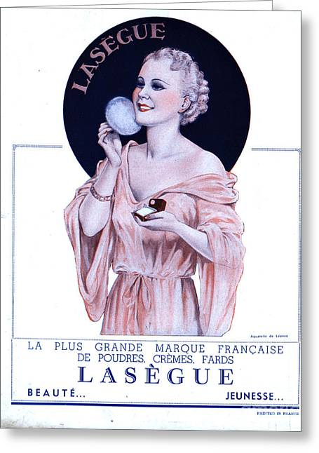 Vintage Beauty Greeting Cards - Laseguela Vie Parisienne 1930s France Greeting Card by The Advertising Archives