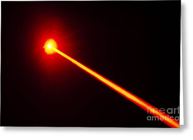 Laser Beam Greeting Cards - Laser Beam Greeting Card by GIPhotoStock