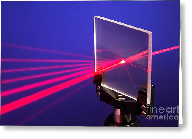 Laser Beam Greeting Cards - Laser Diffraction Greeting Card by GIPhotoStock