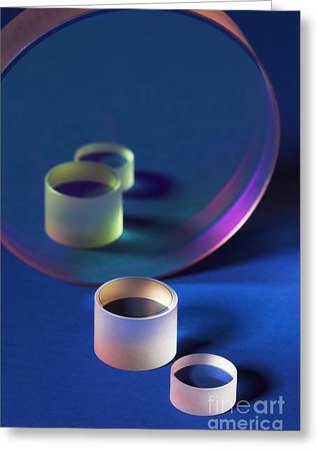 Technical Greeting Cards - Laser Mirrors Greeting Card by GIPhotoStock