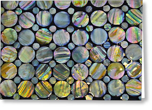 Abstract Shapes Greeting Cards - Rainbows abstract Greeting Card by Marcia Colelli