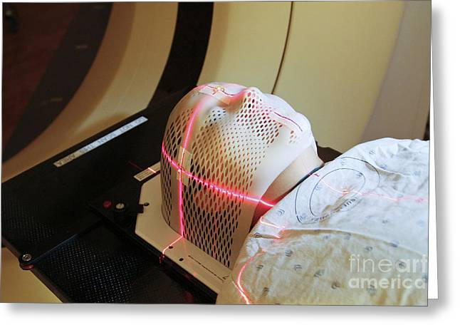 Pet Therapy Greeting Cards - Lasers Used To Position A Patient Greeting Card by National Institutes of Health