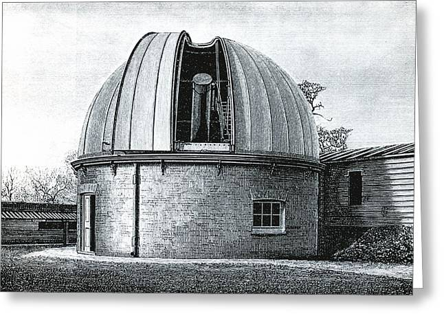 Telescope Domes Greeting Cards - Lassell Dome at Greenwich, 19th century Greeting Card by Science Photo Library