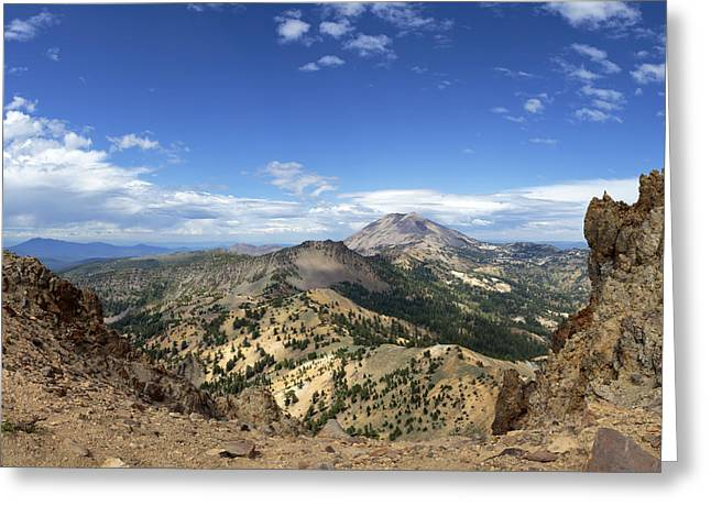 From The Dome Greeting Cards - Lassen View From Brokeoff Mountain Summit Greeting Card by Patricia Sanders
