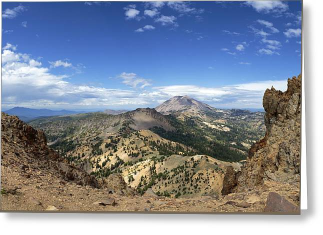Lassen View From Brokeoff Mountain Summit Greeting Card by Patricia Sanders