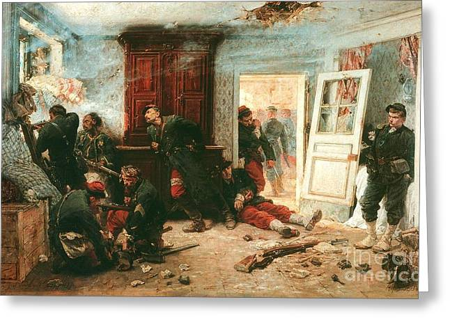 Prussian Blue Greeting Cards - Last Battle  Greeting Card by Pg Reproductions