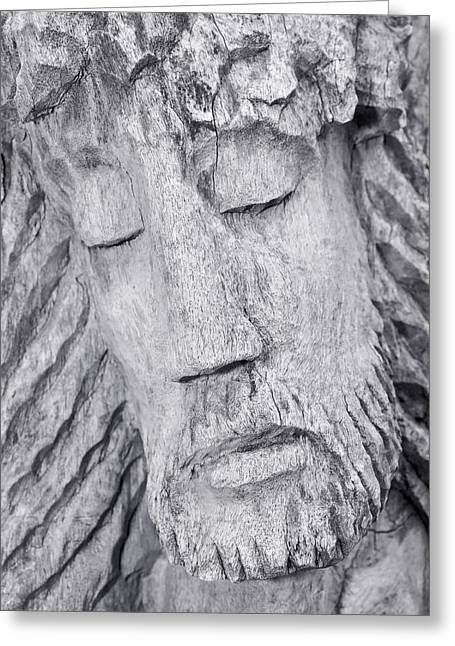 Wood Sculpture Greeting Cards - Last Breath Greeting Card by Melissa Smith
