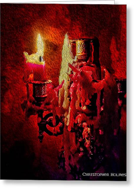 Last Candle Greeting Card by Christopher Holmes