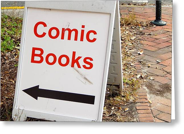 Historic Country Store Greeting Cards - Last Chance for Comics Greeting Card by Terry Cobb