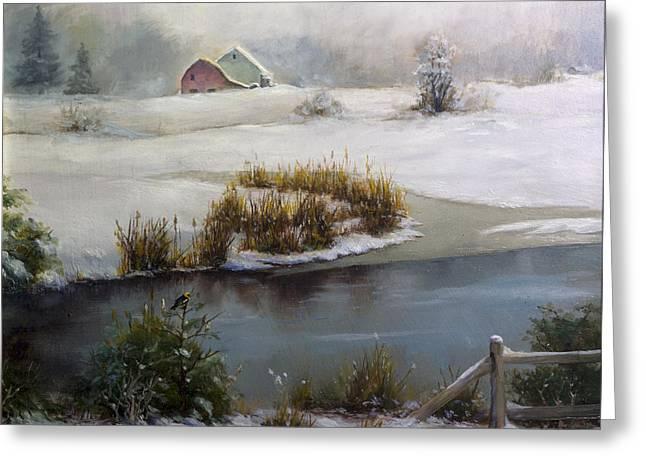 Last Days Of Winter Greeting Card by Carlos Herrera