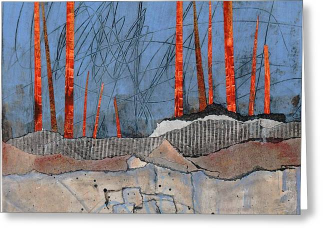 Abstract Landscape Greeting Cards - Last Days of Winter Greeting Card by Laura  Lein-Svencner