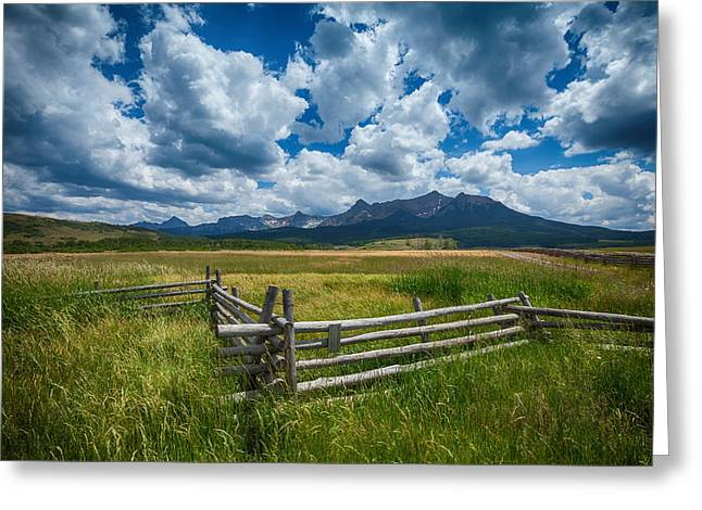 Summer Storm Photographs Greeting Cards - Last Dollar Ranch Greeting Card by Darren  White