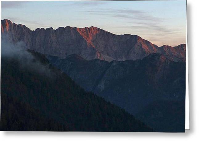Gora Greeting Cards - Last Evening Rays - Julian Alps Greeting Card by Phil Banks
