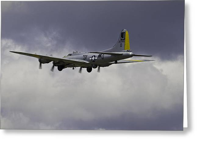 B29 Bomber Greeting Cards - Last Flight Greeting Card by John Manuwal