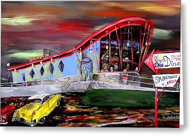 Drive In Style Greeting Cards - Last Friday Night - Huntsville Alabama  Greeting Card by Mark Moore
