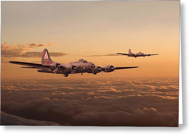Military Aircraft Greeting Cards - Last Home Greeting Card by Pat Speirs