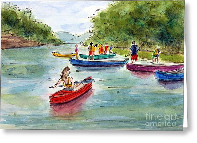 Franklin Tennessee Greeting Cards - Last Hurrah on the Harpeth Greeting Card by Tim Ross