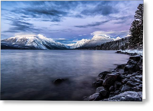 Montana Mountains Greeting Cards - Last Light Greeting Card by Aaron Aldrich