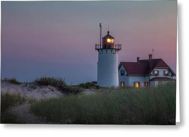 Race Point Greeting Cards - Last Light Greeting Card by Bill  Wakeley