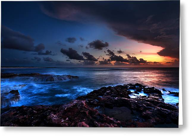 Oceanscape Greeting Cards - Last Light Greeting Card by Chad Dutson