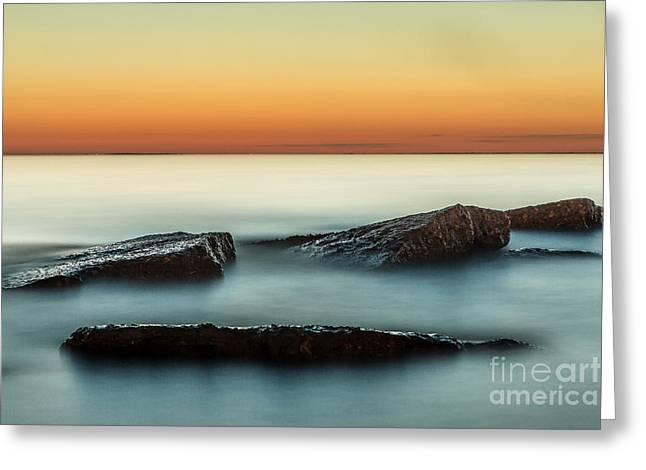 Pm Greeting Cards - Last light Greeting Card by Chuck Alaimo