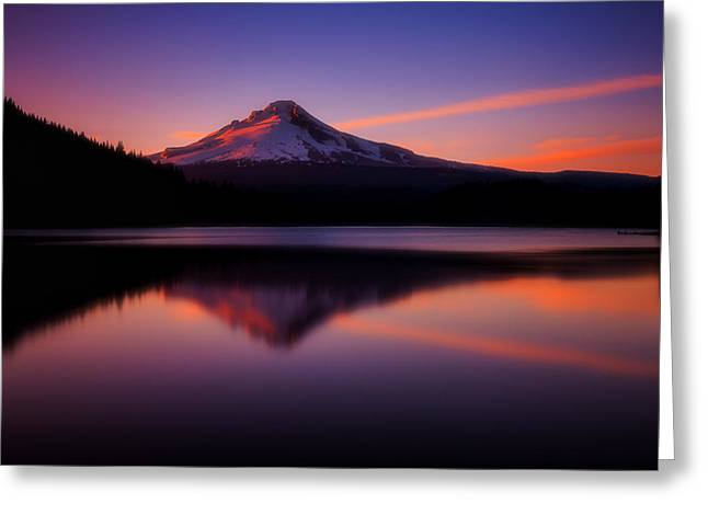 Oregon Landscapes Greeting Cards - Last Light Greeting Card by Darren  White