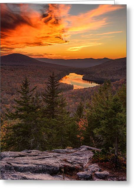 Groton Greeting Cards - Last Light on Kettle Pond Greeting Card by Michael Blanchette