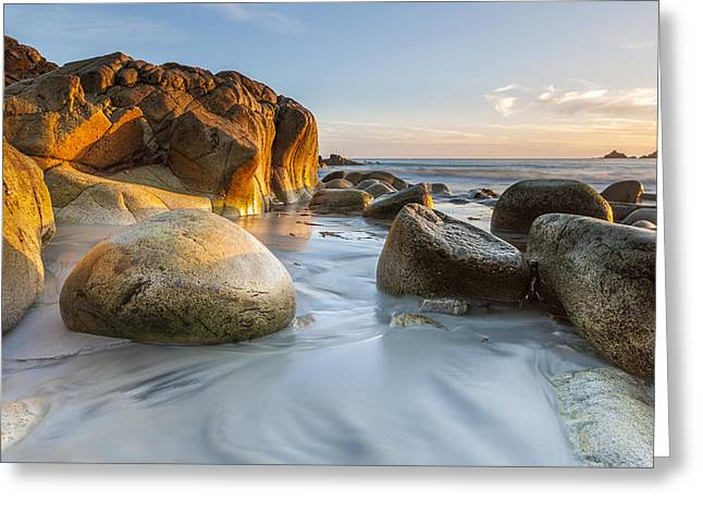 Smooth Sandstone Greeting Cards - Last light. Greeting Card by Sebastian Wasek