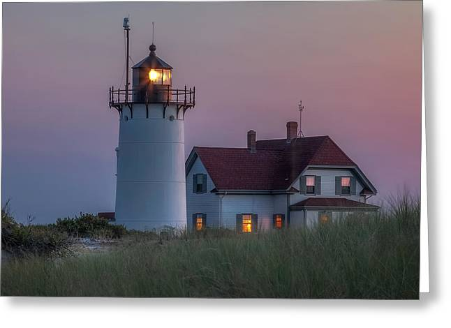 Race Point Greeting Cards - Last Light Square Greeting Card by Bill  Wakeley