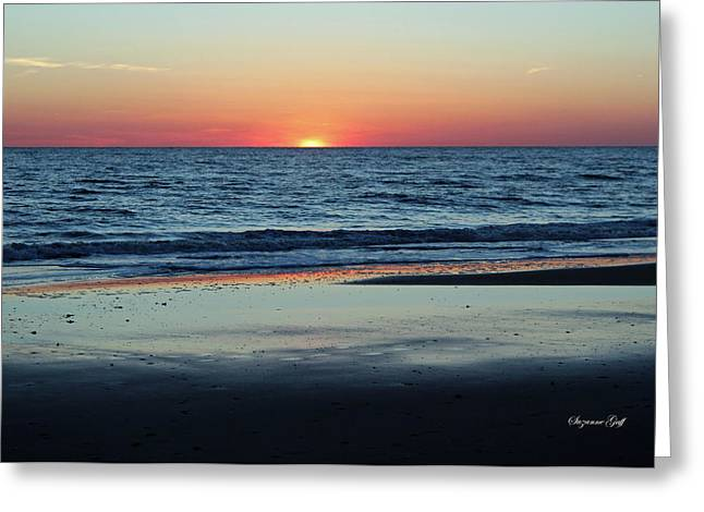 Sunset Posters Greeting Cards - Last Light Greeting Card by Suzanne Gaff