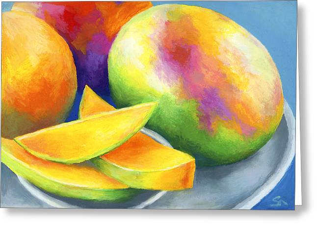 Tropical Fruit Greeting Cards - Last Mango in Paris Greeting Card by Stephen Anderson