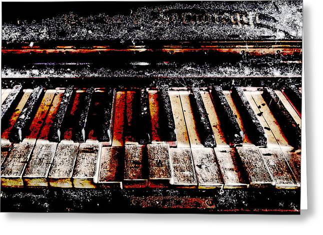 Pianist Mixed Media Greeting Cards - Last Notes Greeting Card by Leitte Family