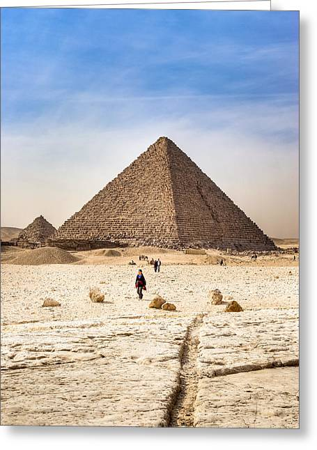 The Plateaus Greeting Cards - Last of the Great Pyramids in Egypt Greeting Card by Mark Tisdale