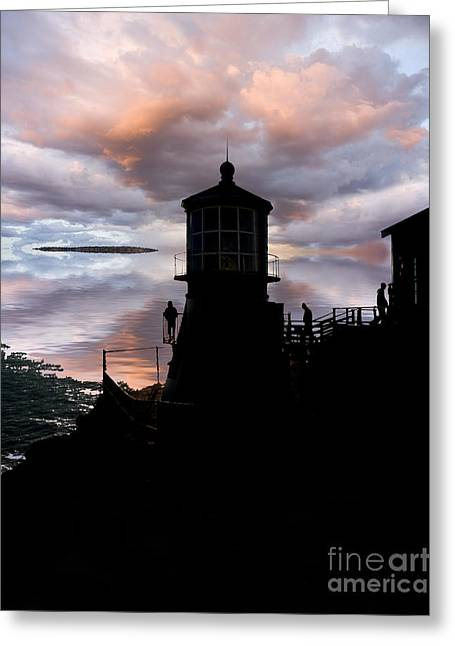 Last Of The Lighthouse Keepers Greeting Card by Jerry McElroy