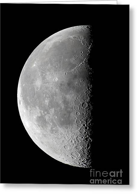 Waning Moon Greeting Cards - Last Quarter Waning Moon Greeting Card by Alan Dyer