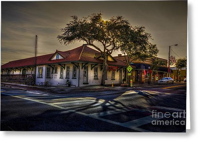 Historical Buildings Photographs Greeting Cards - Last Stop Tarpon Springs Greeting Card by Marvin Spates