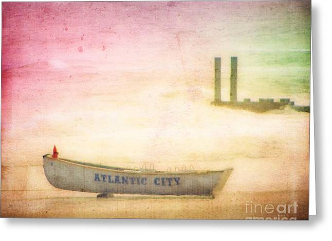 Row Boat Greeting Cards - Last Summer Greeting Card by Colleen Kammerer