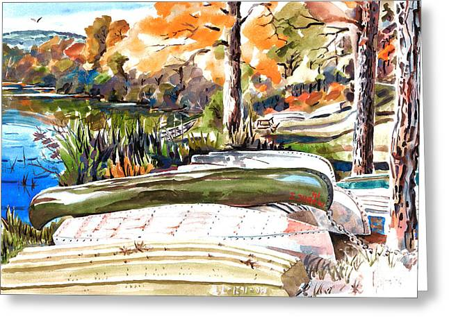 Scenic Mixed Media Greeting Cards - Last Summer in Brigadoon Greeting Card by Kip DeVore