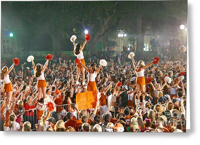 Sean Griffin Greeting Cards - Last University of Texas Hex Rally Greeting Card by Sean Griffin