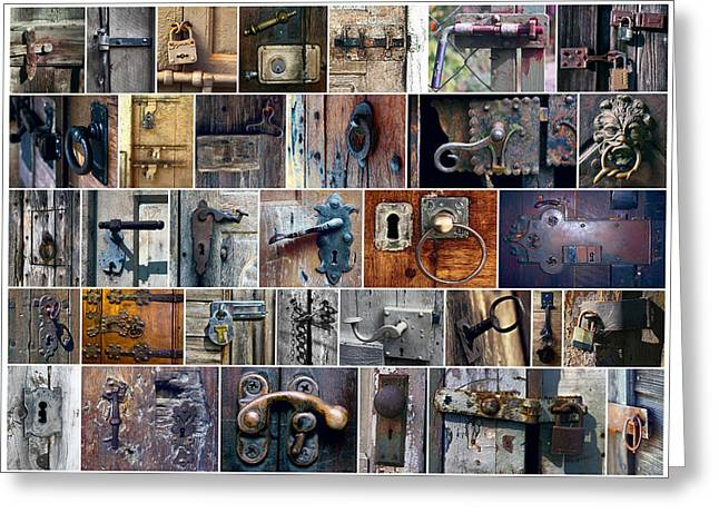 Hardware Greeting Cards - LATCHES LOCKS and BOLTS Greeting Card by Daniel Hagerman