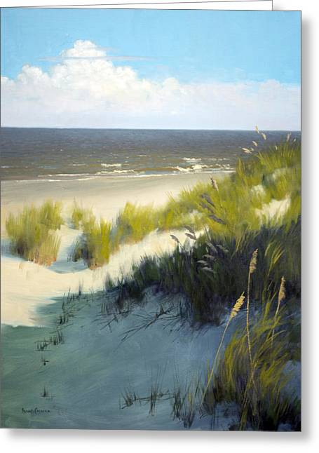 Sea Oats Greeting Cards - Late Afternoon Greeting Card by Armand Cabrera