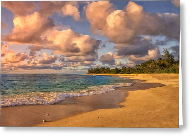 Recently Sold -  - Lahaina Greeting Cards - Late Afternoon at Sunset Beach Greeting Card by Dominic Piperata
