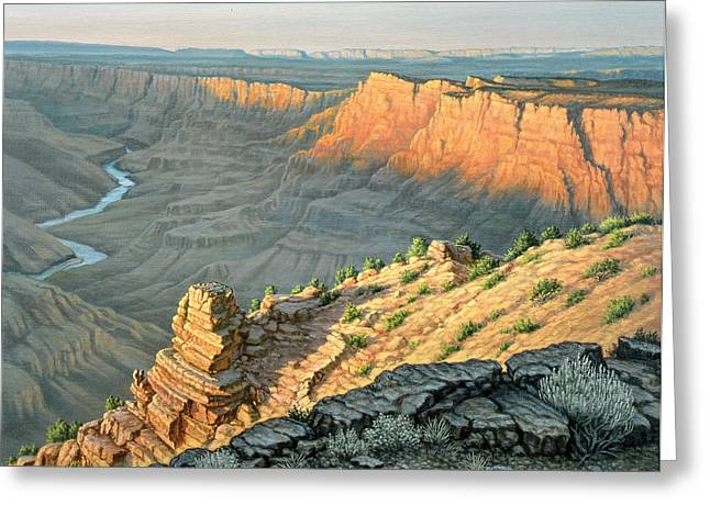 Deserts Greeting Cards - Late Afternoon-Desert View Greeting Card by Paul Krapf